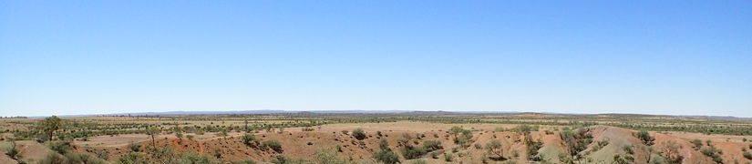 Henburry meteorite crater