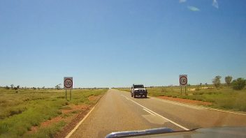 130 km/h road sign, NT